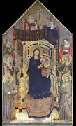 Enthroned Prints - Figline: Madonna And Child Print by Granger