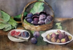 Figs Painting Prints - Figs in a basket Print by Pamir Thompson