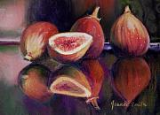 Life Pastels Acrylic Prints - Figs Acrylic Print by Jeanne Rosier Smith