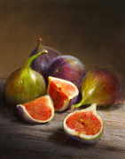 Still Life Painting Posters - Figs Poster by Robert Papp