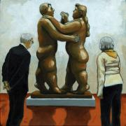 Couples Prints - Figurative art - Bottero sculpture Print by Linda Apple