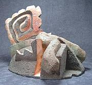 Abstract Ceramics Originals - Figure A Top A Structure  by Donald Burroughs