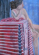 Contemplative Paintings - Figure at Rest by Lowen Hardy