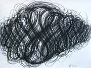Coal Drawings Prints - Figure Eight Study Number Ten Print by Michael Morgan