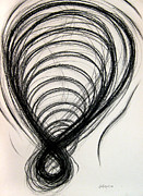 Coal Drawings Prints - Figure Eight Study Number Twelve Print by Michael Morgan