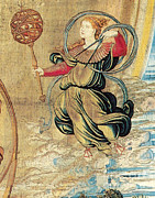 Art Roman Posters - Figure From Renaissance Tapestry Poster by Photo Researchers