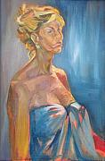 Julie Orsini Shakher Art - Figure in Blue by Julie Orsini Shakher