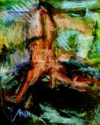 Republic Pastels - Figure In Landscape by Michal Rezanka
