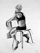 Figure Study Drawings Prints - Figure Print by Laura St Onge