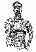 Figure Drawings Prints - Figure Print by Sam Sidders