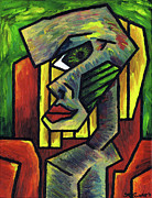Portraits Originals - Figure Sitting on a Red Chair 2 by Kamil Swiatek