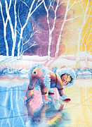 Olympic Illustrations For Children Prints - Figure Skater 12 Print by Hanne Lore Koehler