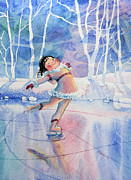 Olympic Illustrations For Children Prints - Figure Skater 14 Print by Hanne Lore Koehler