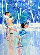 Figure Skater 15 Print by Hanne Lore Koehler