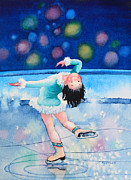 Olympic Illustrations For Children Prints - Figure Skater 16 Print by Hanne Lore Koehler