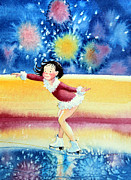 Olympic Illustrations For Children Prints - Figure Skater 17 Print by Hanne Lore Koehler