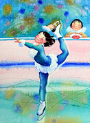 Olympic Illustrations For Children Prints - Figure Skater 19 Print by Hanne Lore Koehler