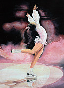 Skating Paintings - Figure Skater 20 by Hanne Lore Koehler