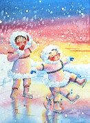 Nursery Room Pictures Paintings - Figure Skater 9 by Hanne Lore Koehler