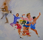 Skating Mixed Media - Figure Skating by Cliff Spohn