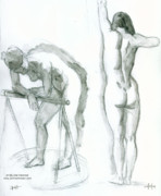 Figure Studies Posters - Figure studies Poster by Dan Hammer