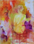 Corporate Painting Prints - Figure Study 019 Print by Donna Frost