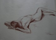 Works Drawings Originals - Figure Study 3 by Michael Vires