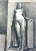 Julie Orsini Shakher Art - Figure Study no1 by Julie Orsini Shakher