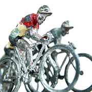 Cyclist Posters - Figurines Poster by Bernard Jaubert