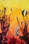 Marine Life Paintings - Fijian Friends by Tanya L Haynes - Printscapes