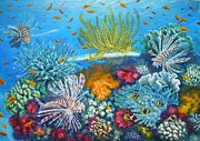 Fish Underwater Paintings - Fijis Bounty by Jennifer Belote