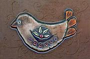 Fanciful Art - Filigree Bird by Arline Wagner