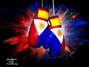 Boxer Painting Framed Prints - Filipino Boxer - Boxing from the Philippines Framed Print by Teo Alfonso