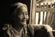 Cebucity Framed Prints - Filipino Lola - Image 14 Sepia Framed Print by James Bo Insogna