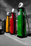 Oil Pumps Prints - Fill her up Print by Rob Hawkins