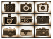Holga Camera Digital Art Prints - Film Camera Proofs 1 Print by Mike McGlothlen