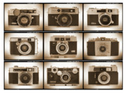 Sepia Digital Art Prints - Film Camera Proofs 2 Print by Mike McGlothlen