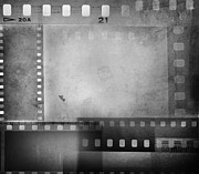 Grey Background Prints - Film negatives  Print by Les Cunliffe