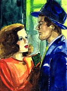 Melodrama Drawings Prints - Film Noir Print by Mel Thompson