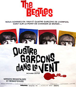 Fab Four  Drawings - Film Poster - A Hard Days Night - Quatre Garcons Dans le Vent - Beatles by Unknown