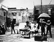 On-set Framed Prints - Filming In Hollywood, Ca. 1916 Framed Print by Everett