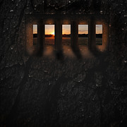 Window Bars Prints - Filtered Light Print by Joe Russell