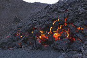 Vulcanology Framed Prints - Fimmvörduhals Lava Flow Framed Print by Martin Rietze