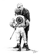 Jockey Paintings - Final Advice by Thomas Allen Pauly