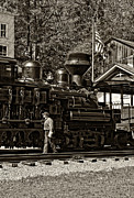 Wv Locomotive Photos - Final Check sepia by Steve Harrington