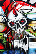 Grunge Skull Paintings - Final Destination by Yurix Sardinelly