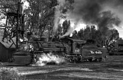 Steam Train Prints Art - Final Evening Steam by Ken Smith