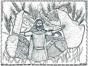 Religious Art Drawings Prints - Final Harvest Print by Glenn McCarthy Art and Photography