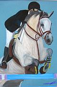 Wild Horses Pastels - Final Jump by Michael Lee