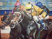 Horserace Paintings - Final Stretch by Claudia Plunkett